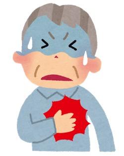 心臓発作・心筋梗塞のイラスト